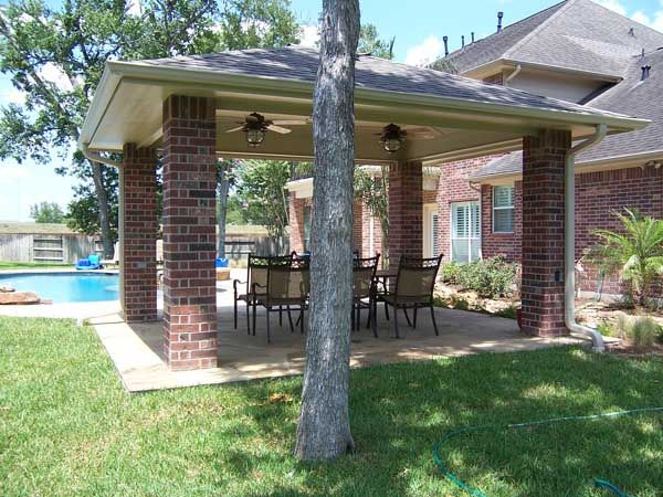 Covered patio stand alone detached patio covers from for Detached covered patio plans