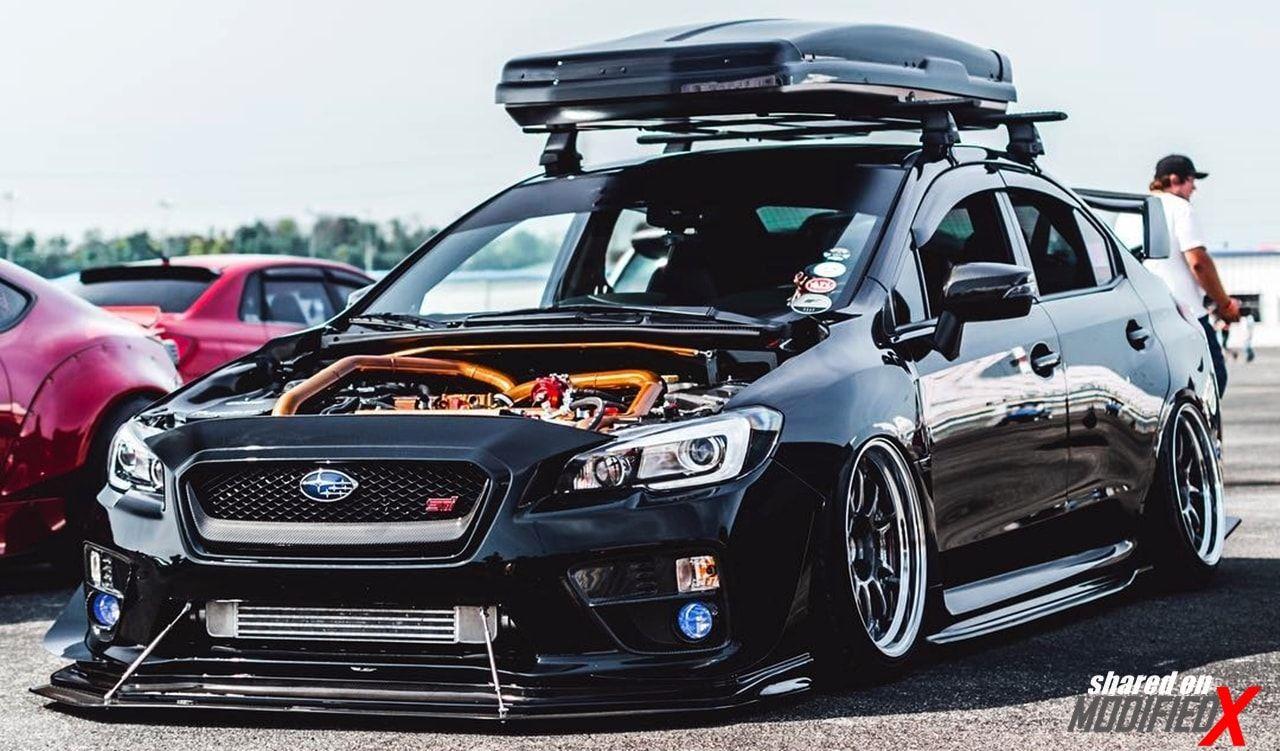 Custom Subaru Wrx Sti Modified Black Tuner Cars Pinterest