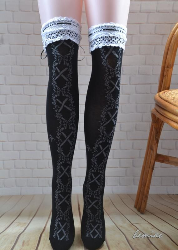 5aa7730b167b0 Sexy thigh high black lace socks ,over the knee leg warmers, lace boot socks,woman  leg warmers, g