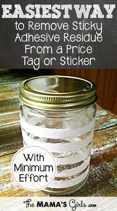 The Best Way to Get the Sticky Adhesive Residue From a
