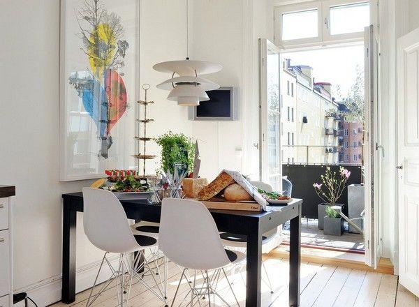 kleiner tisch mit viel platz   my new home   Pinterest   Kleiner ...