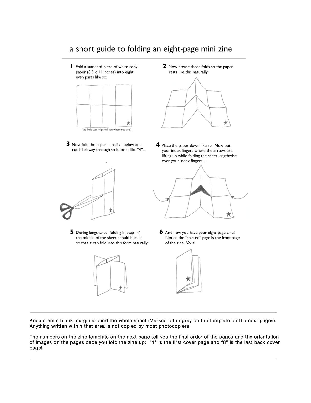 Zine Folding Instructions technology documents business documents ...