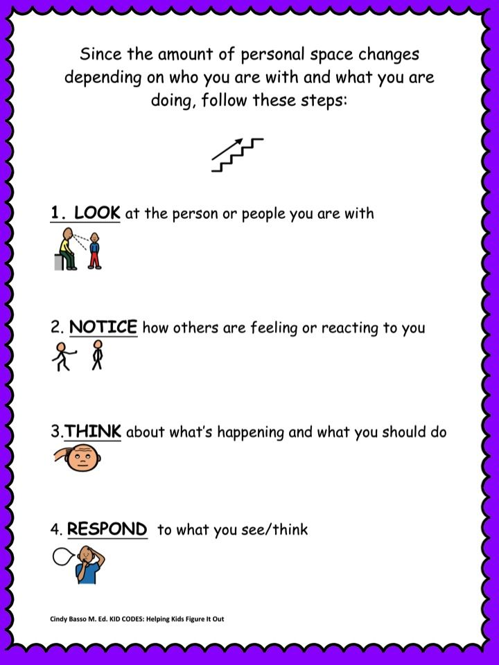 SOCIAL SKILLS ACTIVITIES: Personal Space {Differentiated~K-5th ...