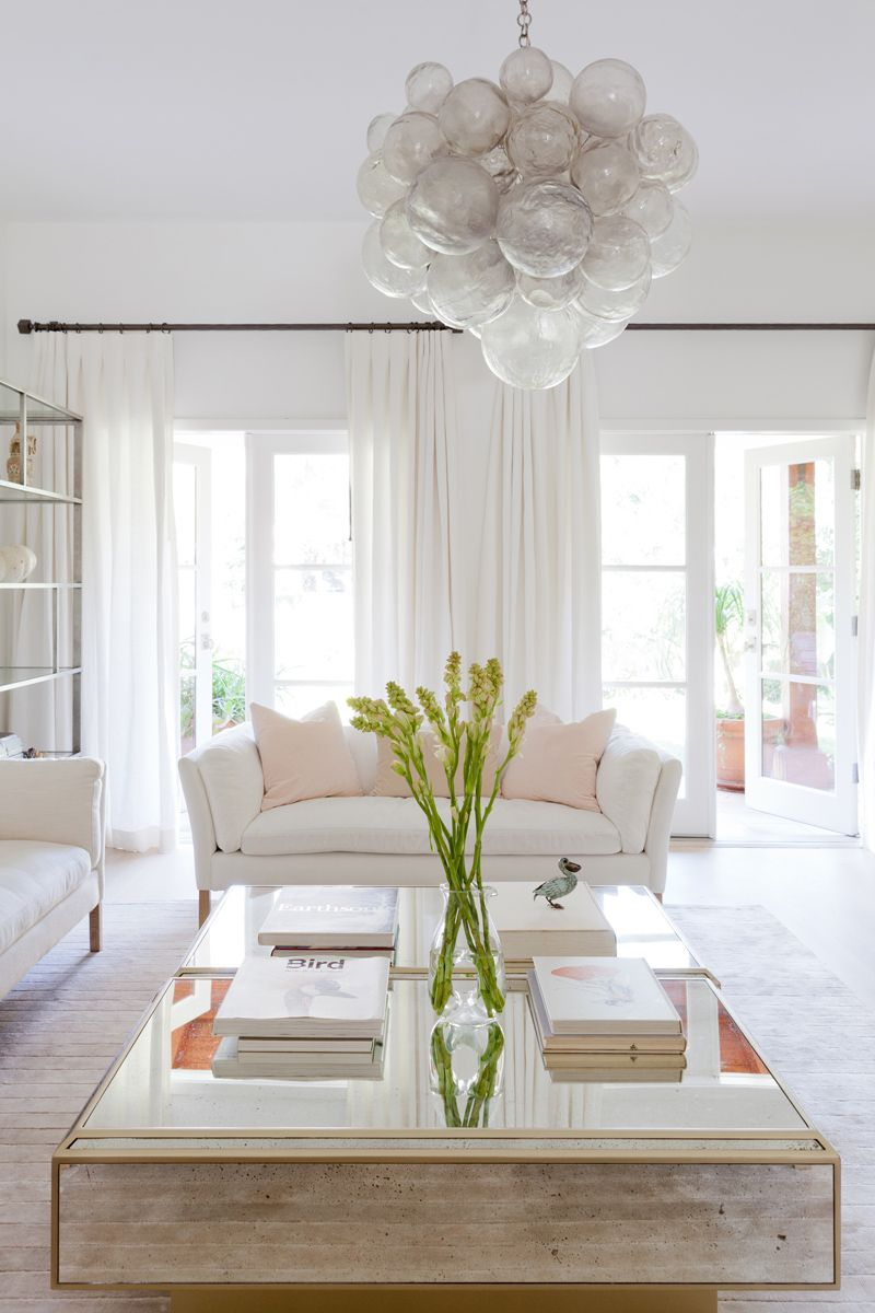 A Striking Contemporary Home in Santa Monica | Living room white ...