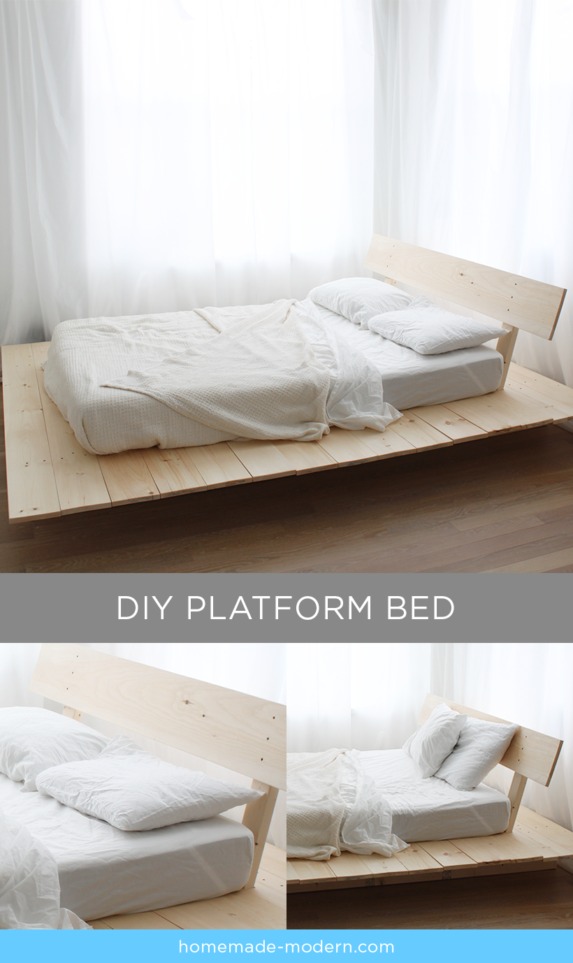 This Diy Platform Bed Is Made Out Of 2x8s 2x4s And Pine Boards I