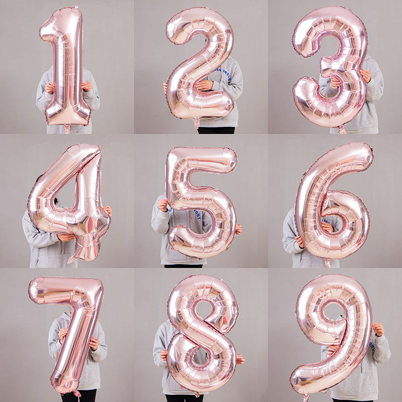 Giant Age 1 Birthday Party Number 1 Foil Age Balloon Helium Air Decoration