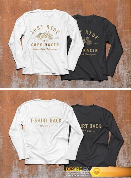 Download Psd Mock Ups Long Sleeve T Shirt Http Www Desirefx Me Psd Mock Ups Long Sleeve T Shirt Kaos Hitam Mockup