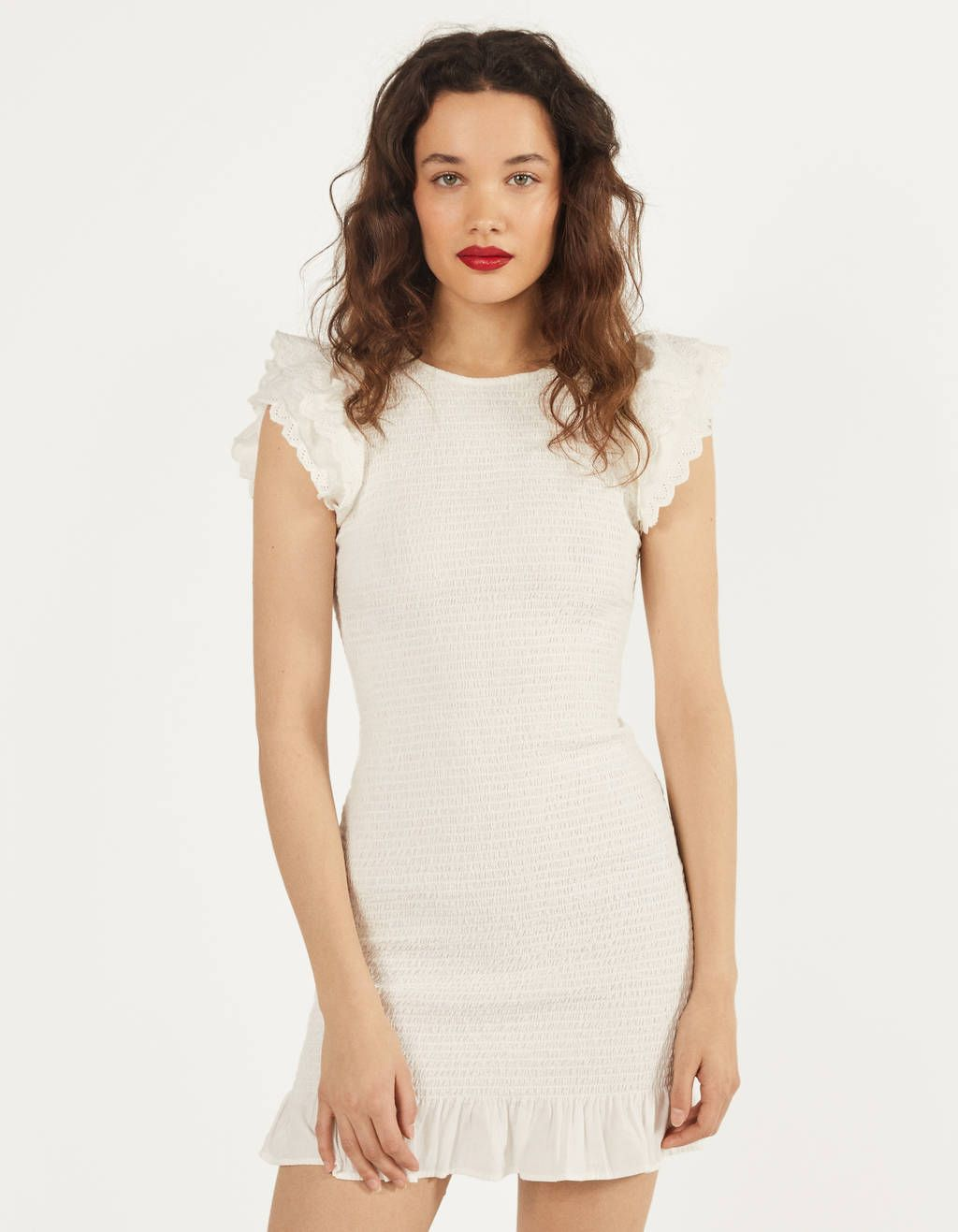 Firfirli Ve Islemeli Elbise 2020 The Dress Ve Kadin
