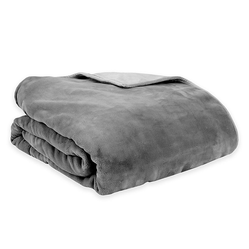 Therapedic Reversible 12 Lb Small Weighted Blanket In Grey Weighted Blanket Blanket Bed Styling