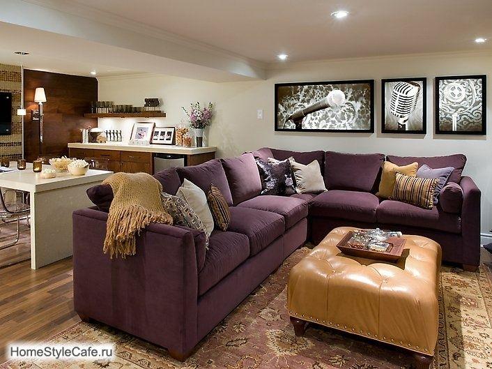 colorful sofa   Purple living room, Contemporary family ...