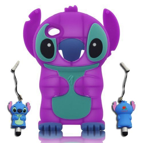 3D Stitch & Lilo ipod touch 4 Soft Silicone Case Cover with 3D Stitch Stylus Pen For itouch 4g 4th Generation - Purple by Disney. $7.48. New 3D Soft Silicon Case . Easy to attach and detach. Full body protection. The protector covers the back,left and right side. Allows access to camera & all port,smart design allows total accessing to all functions and buttons without removing your ipod from the protector case.