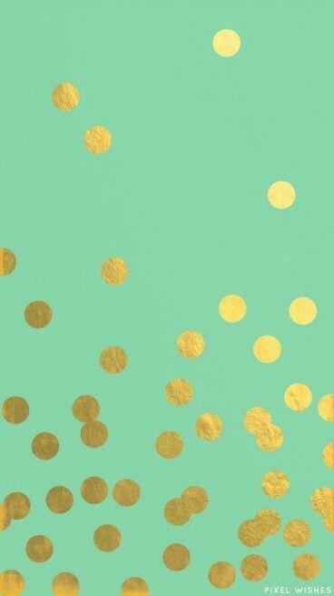 Gold Green Wallpaper Iphone Wallpaper Kate Spade Best Iphone Wallpapers Polka Dots Wallpaper