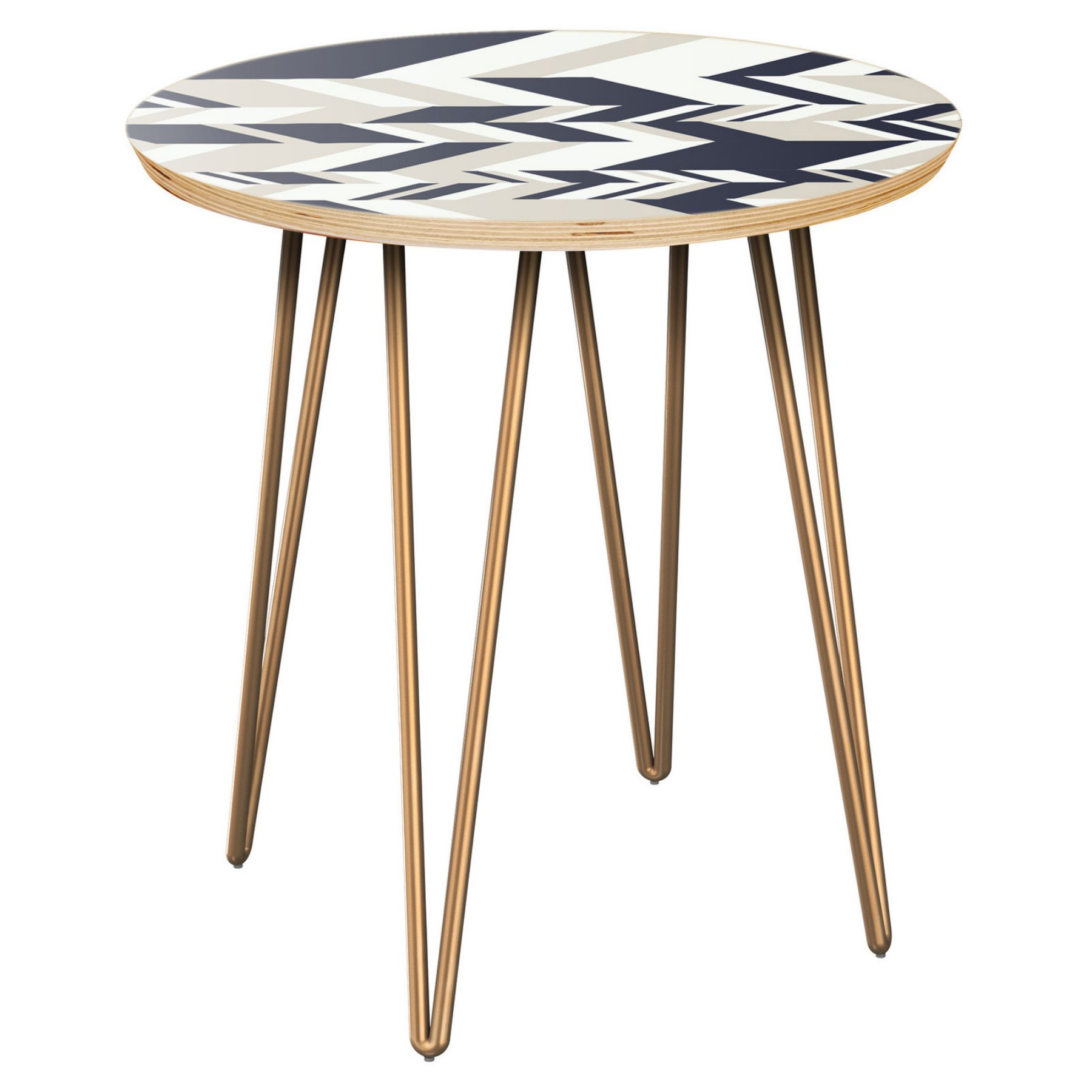 Nyekoncept Stella Modern Slice Hairpin Side Table  12004127