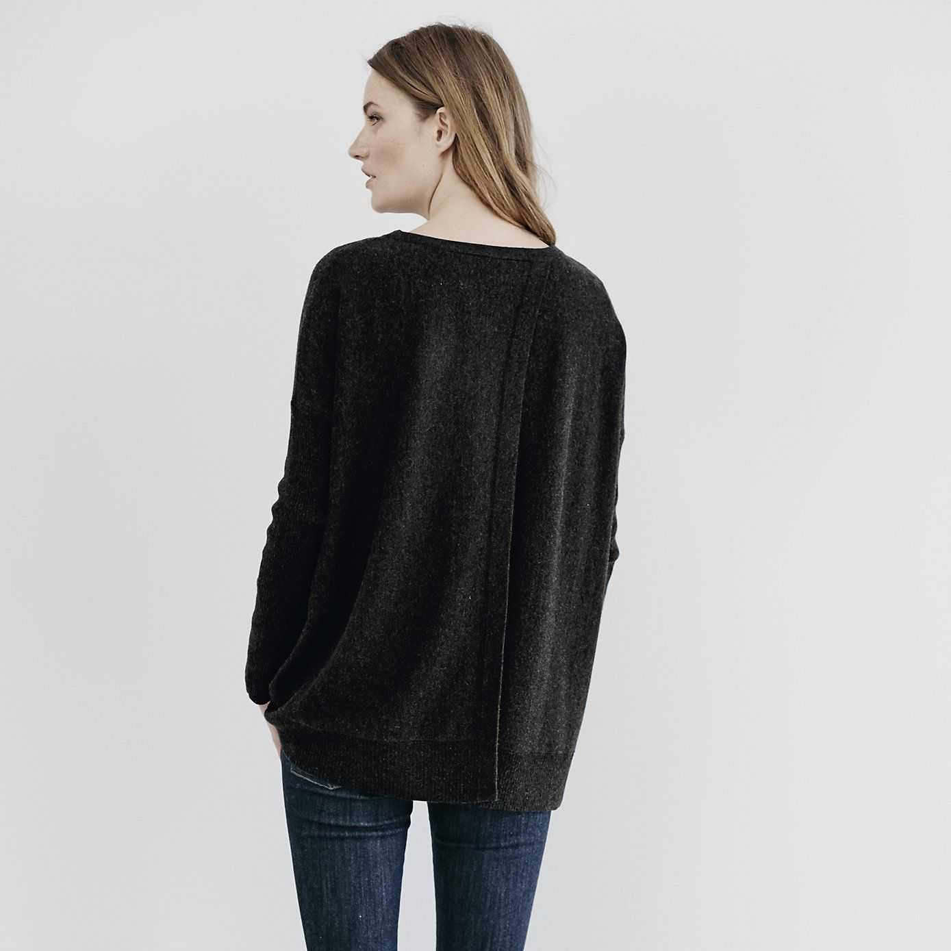 Oversized Back Split Jumper | The White Company | Clothes ...