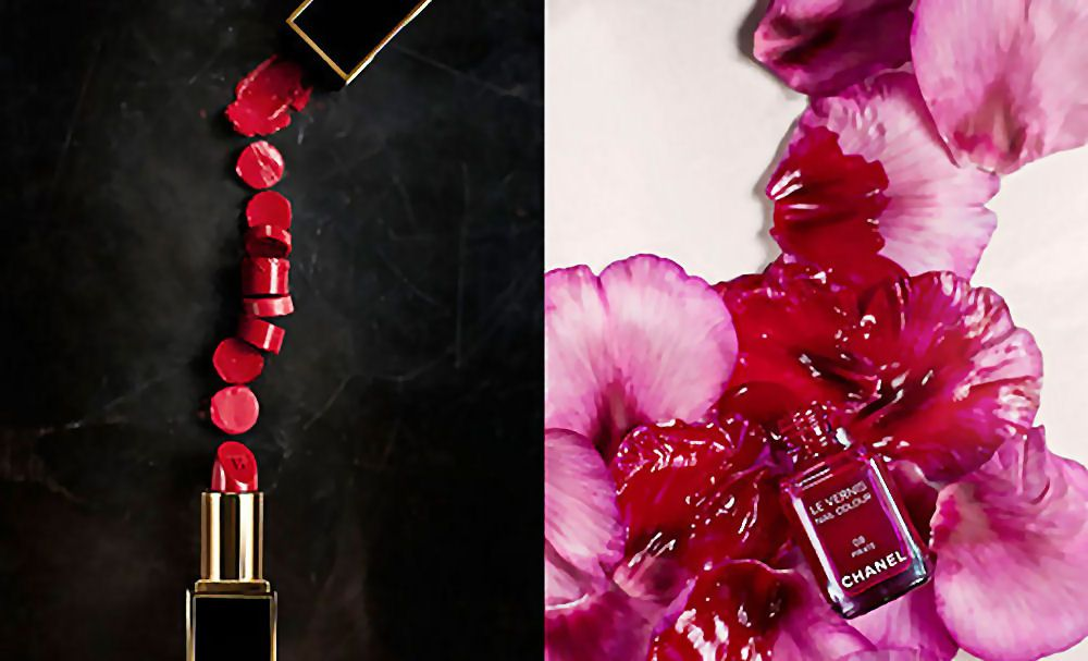 chanel lipstick and nail polish