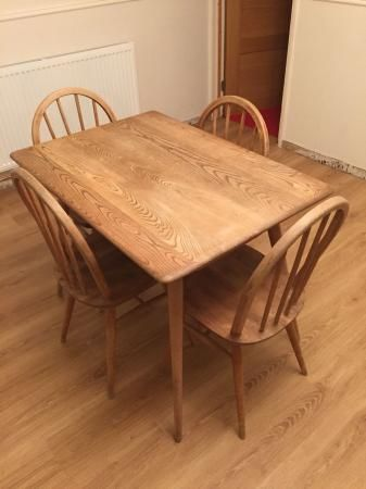 Ercol Table And 4 Chairs Original 1960s For Sale In Colchester Essex