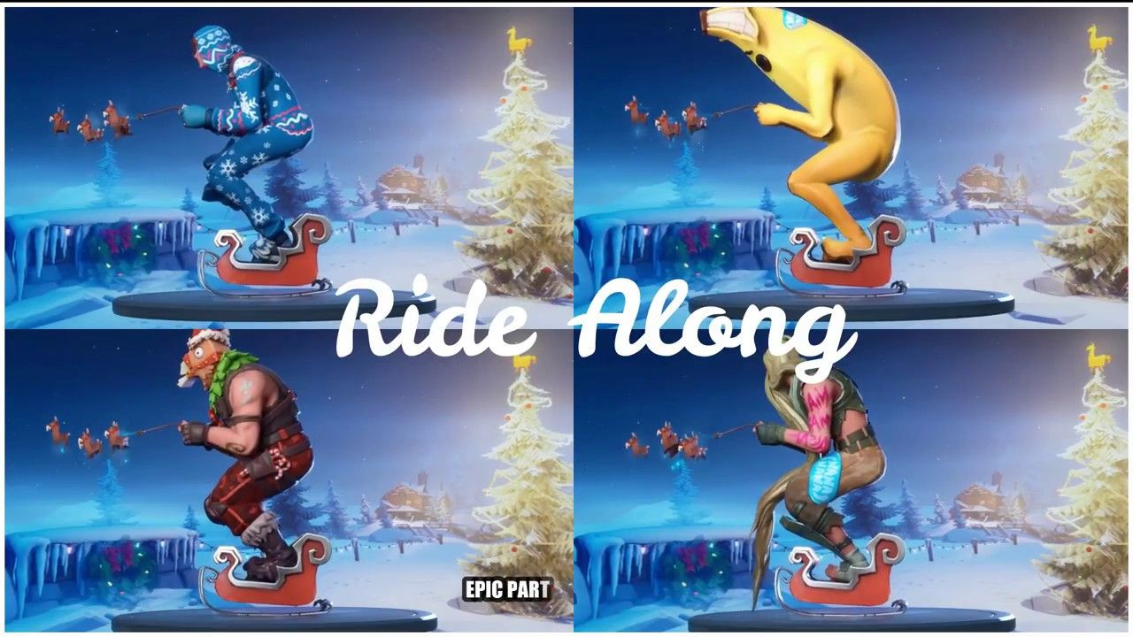 Ride Along Epic Emote Fortnite Christmas Chapter 2