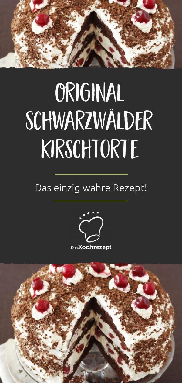 Original Schwarzwälder Kirschtorte - Rezept