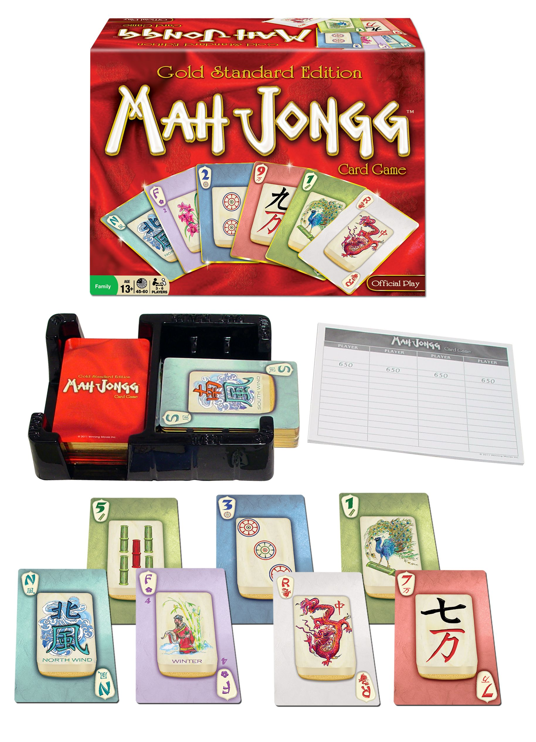 Mah Jongg Card Game by Winning Moves features beautifully