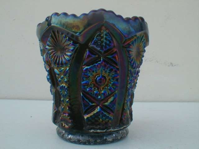 Vintage Glware Collectibles Old Antique Imperial Purple Carnival Gl Toothpick Holder