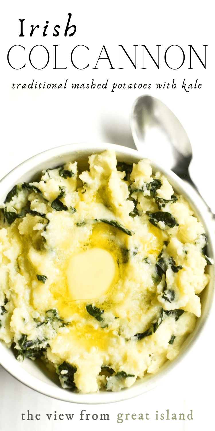 Colcannon An Authentic Irish Version Of Creamy Mashed Potatoes Teamed Up With Kale Try This Healthy Side Dis Colcannon Recipe Colcannon Easy Potato Recipes