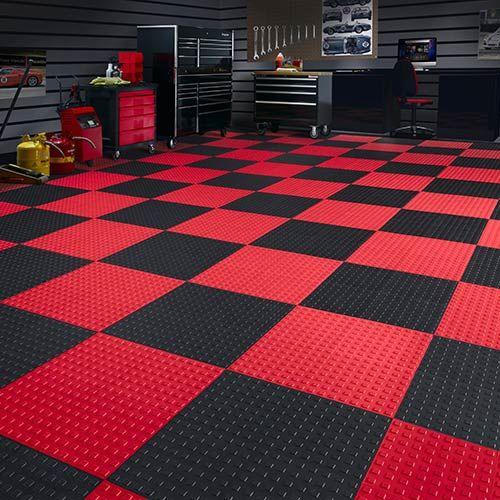 Techfloor Premium Tile With Traction Top Carton Of 10 Garage