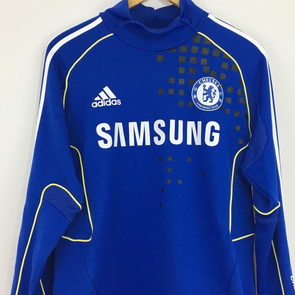 519c61a3b Adidas Climacool Chelsea Football Club Samsung Soccer Jersey Men s Medium