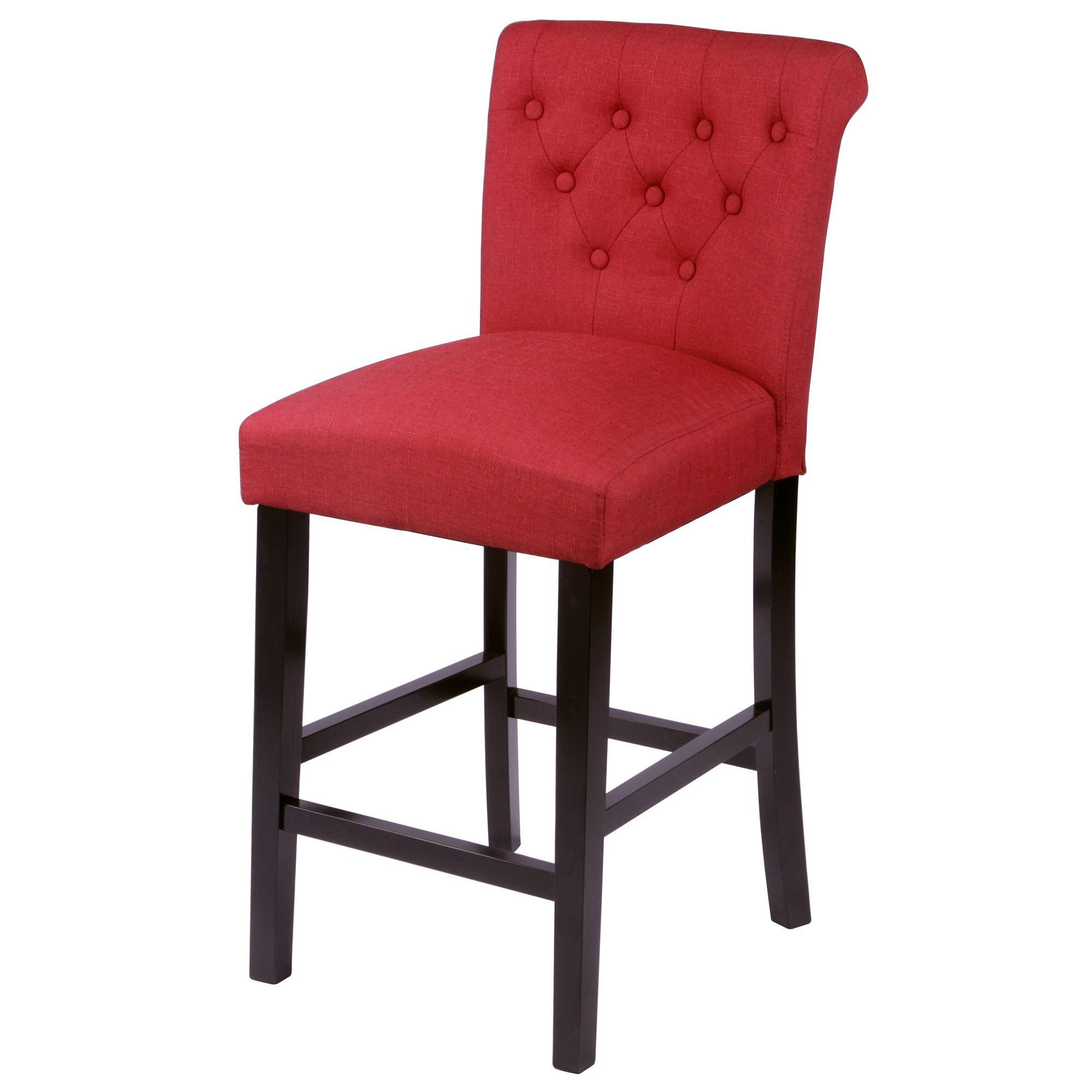 Charmant Monsoon Sopri Upholstered Counter Chairs (Set Of 2) (Sopri Deep Red Counter  Chairs