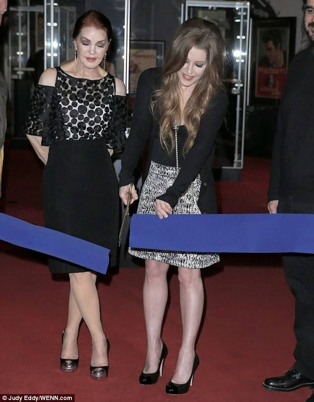 Priscilla and Lisa in 2015 in Memphis ribbon cutting ceremony 1