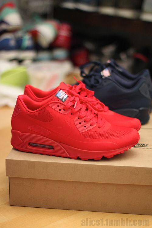 quite nice 4ec3a d361a Nike air max 90 hyperfuse Tênis Air Max, Sapatos Vermelhos, Tenis Vermelho,  Melhores
