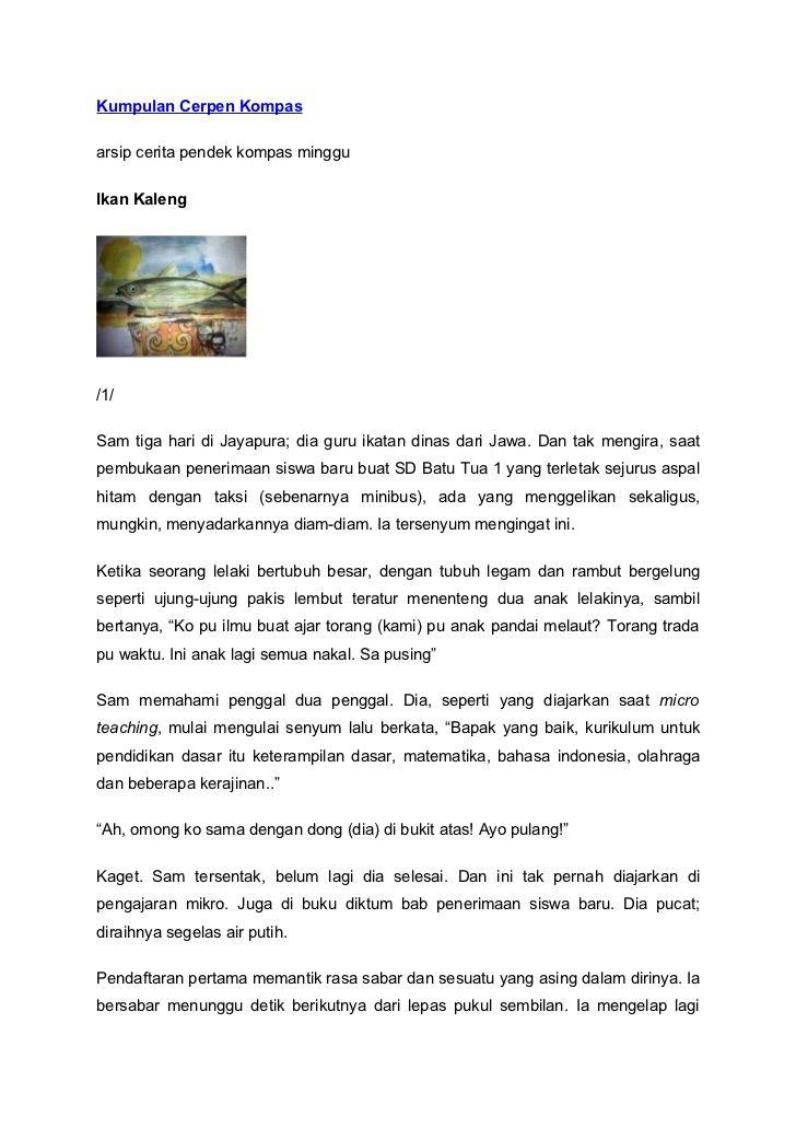 Kumpulan Cerpen Kompasarsip Cerita Pendek Kompas Mingguikan Kaleng 1 Sam Tiga Hari Di Jayapura Dia Guru