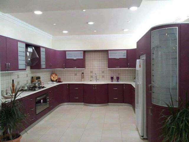 ديكور مطبخ كبير غاية بالجمال والروعة Kitchen Dream Rooms Kitchen Cabinets