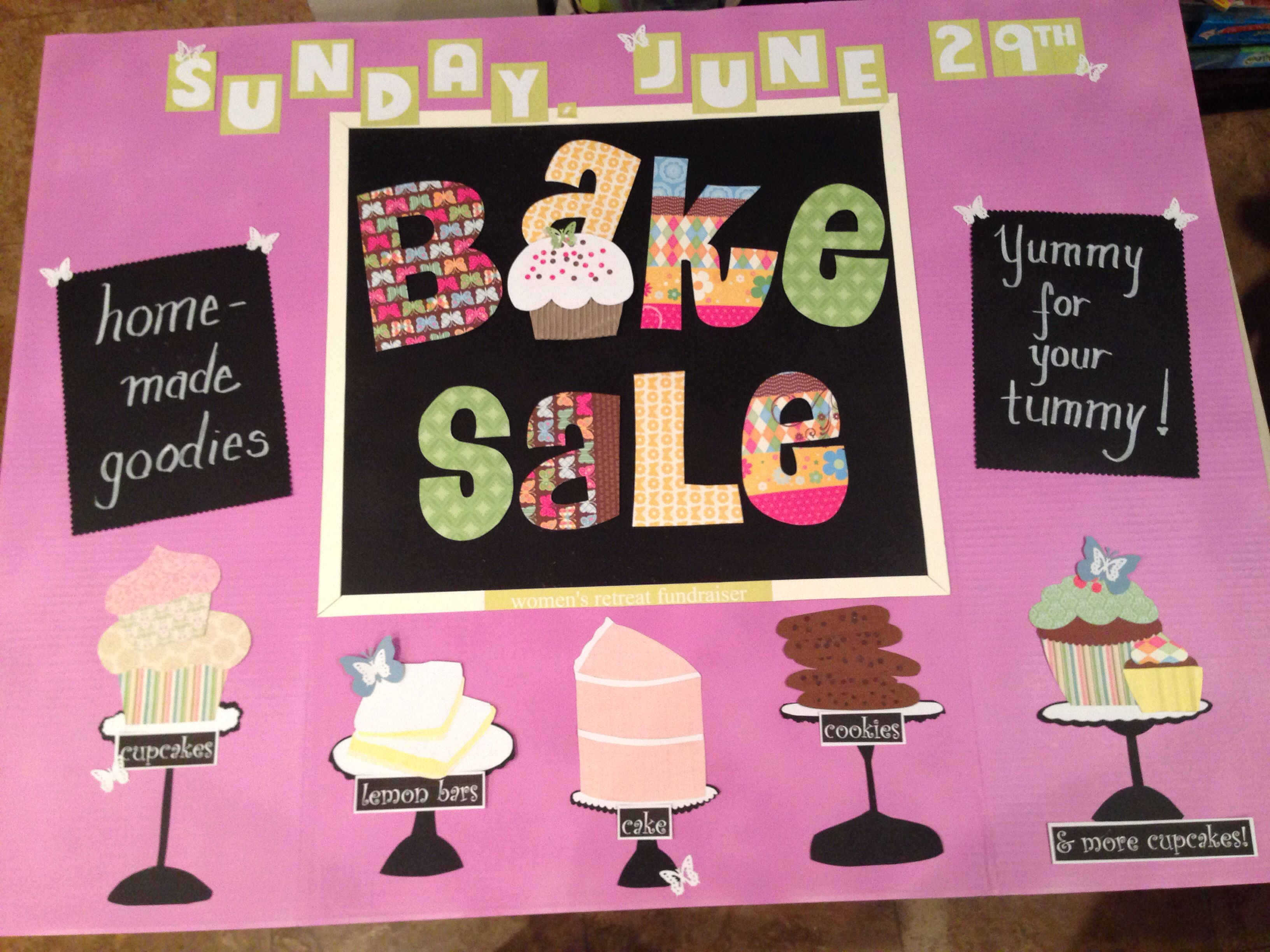 Bake Sale Sign  ClosetSweetbaker    Bake Sale Sign