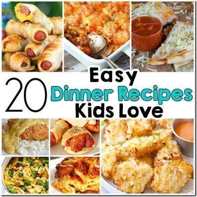 20 Easy Recipes Kids L...
