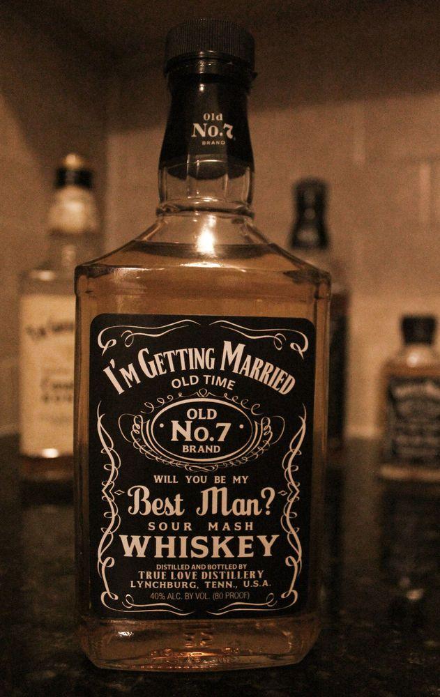 Wedding Party Labels for Jack Daniel Whiskey Bottles groomsman best ...