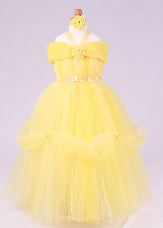 Yellow dress like belle  Princess Belle Tutu Dress  Halloween  Pinterest  Vestidos niña