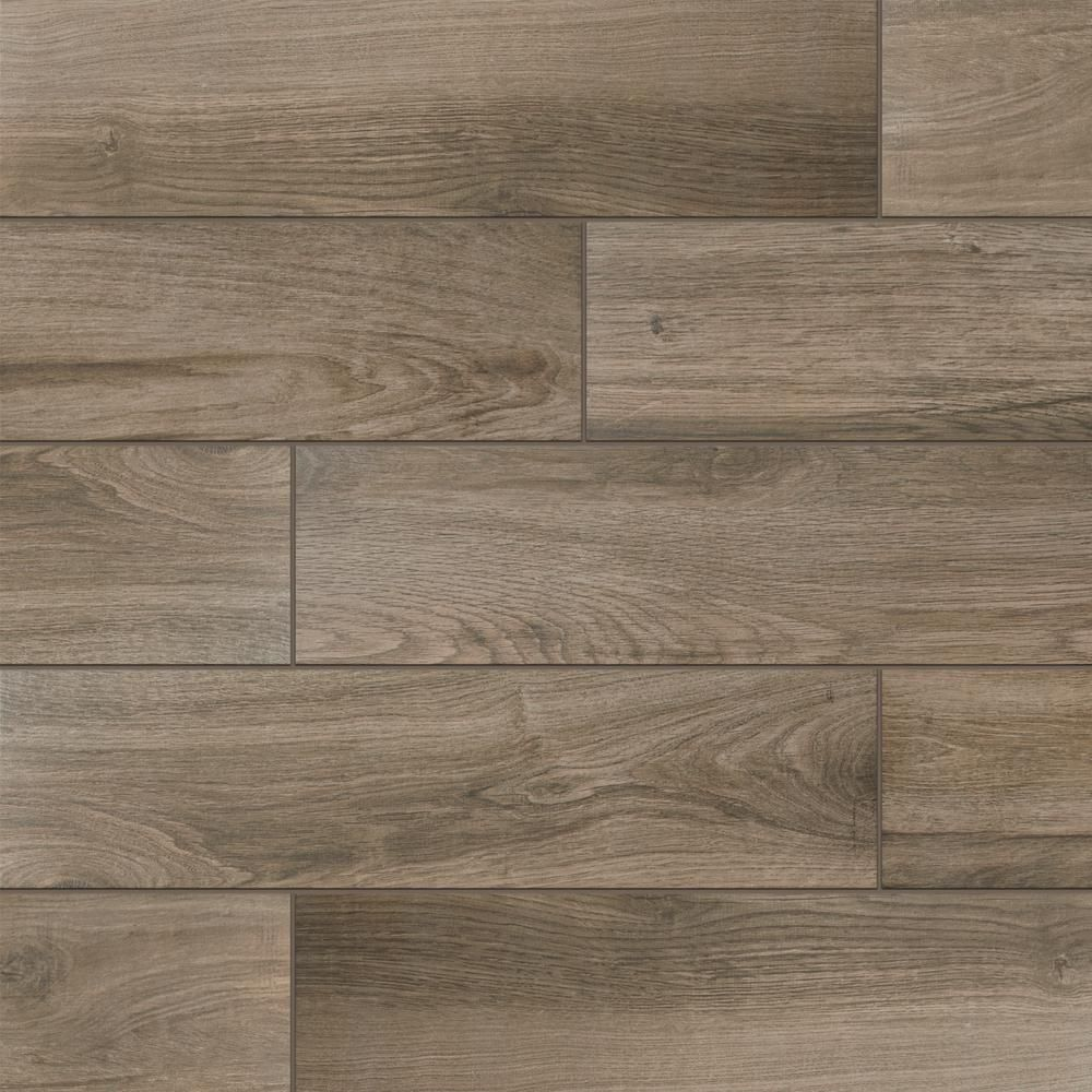 Lifeproof Sierra Wood 6 In X 24 Porcelain Floor And Wall Tile 14 55 Sq Ft Case This Grout Looks Realistic Disears
