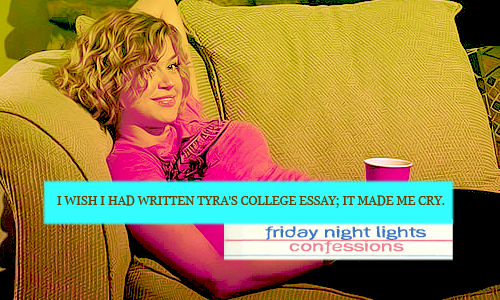 tyra collette friday night lights college essay Home forums  海外置业  friday night lights quotes tyra college essay this topic contains 0 replies, has 1 voice, and was last updated by.