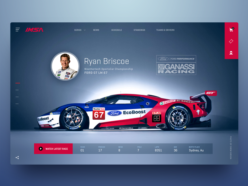 Racing Driver Profile Web Layout Design Minimal Web Design Racing Driver