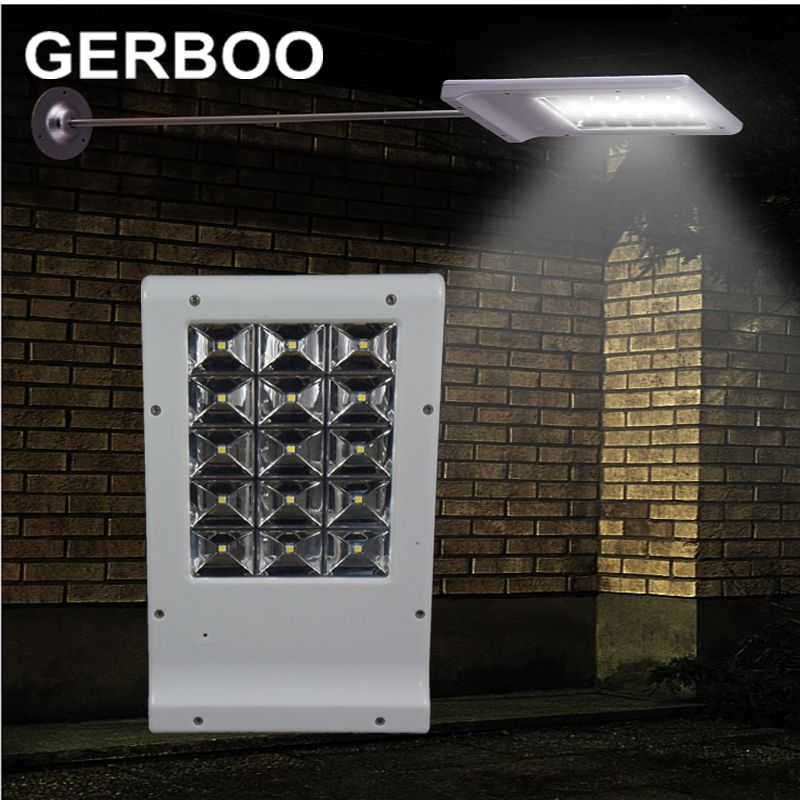 Bright Outdoor Solar Lights Updated Super Bright 15 Leds Solar Street Light Led On The Wall