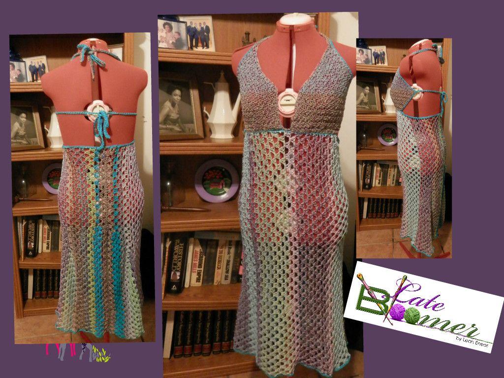 Crochet Dress by Designer Leah Eneas.