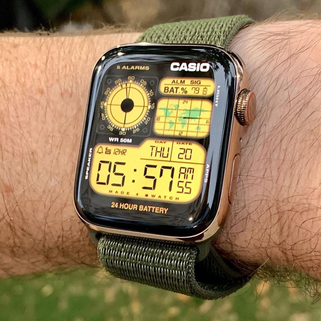 Casio watchface Photo by nimbus12_ in 2020 Apple watch