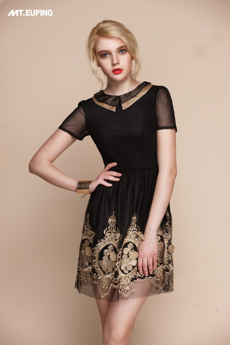 Aliexpress.com : Buy 2013 New Arrival Summer Dress Gold Floral Embroidery Lace Vintage Style Office Lady Dress Noble feeling High Quality from Reliable Women Dress suppliers on  Lifestyle Fashion Wardrobe