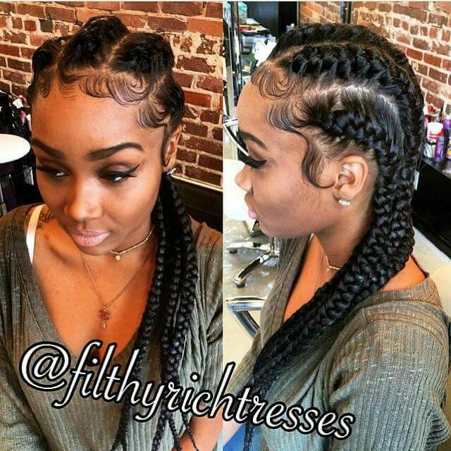 Cute French Braids Curly Hair Styles Naturally Hair Styles