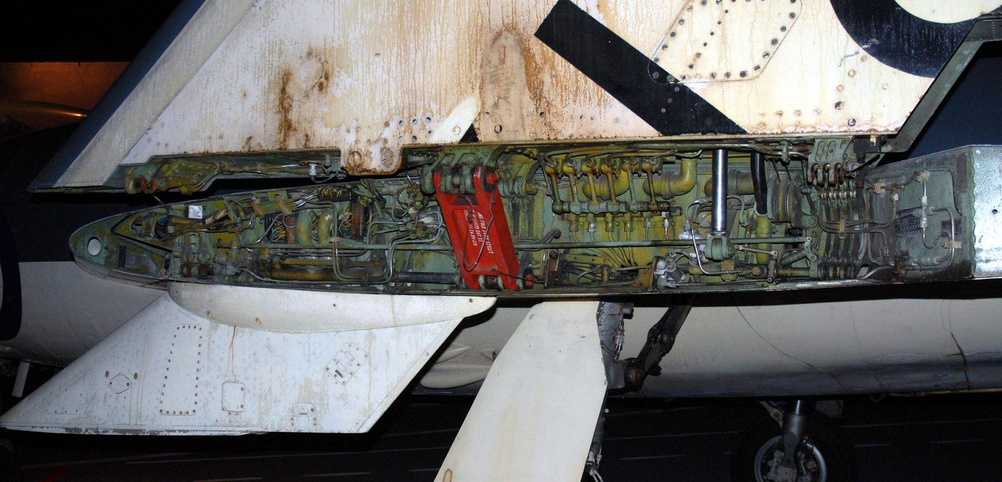 Scimitar wing fold detail, Fleet Air Arm Museum, RNAS