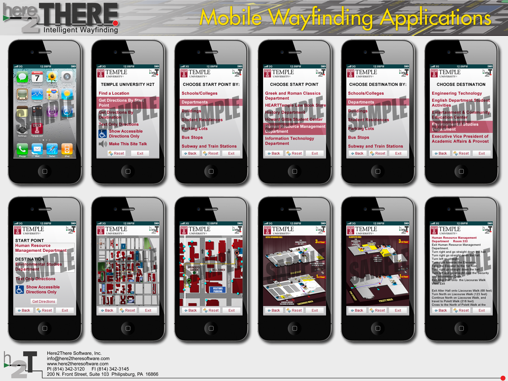 Temple University Mobile Interactive Campus Map Mobile Sequence