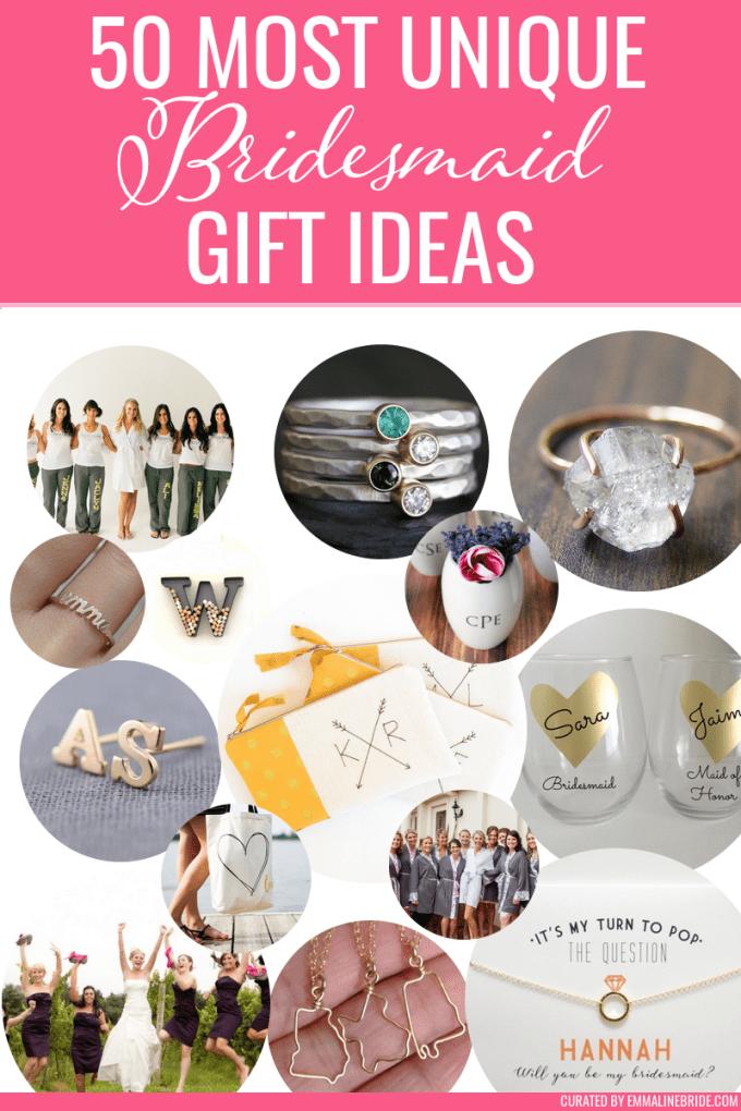 most unique bridesmaid gifts