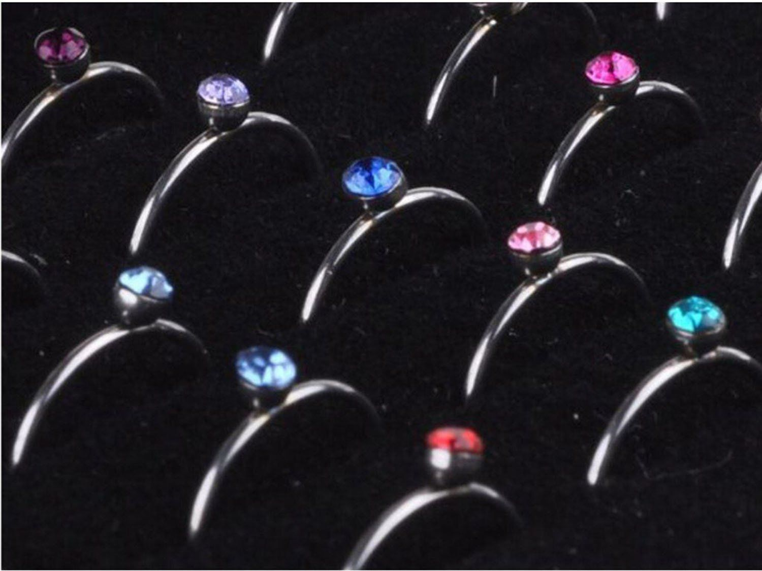 Nose piercing bump types  Du G mm Non Pierced Stainless Steel Clip On Closure Round Ring