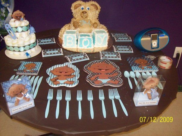 Modern Baby Boy African American Baby Shower Theme Ideas