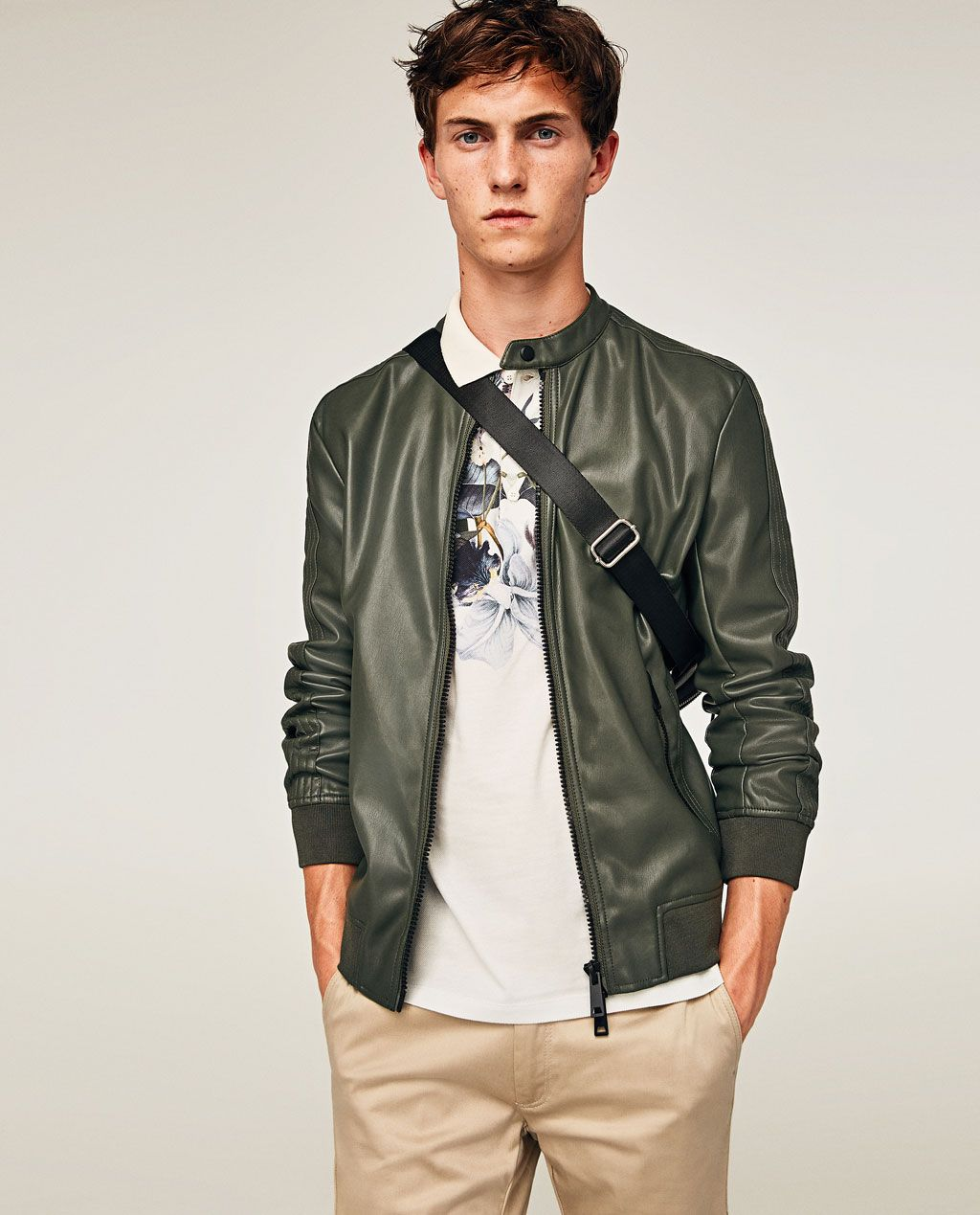 FAUX LEATHER JACKETJACKETSMAN ZARA United States